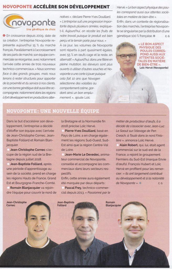 Photo de l'article Novoponte dans Filières Avicoles